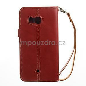 RetroStyle PU kožené puzdro na HTC U11 - červené - 5
