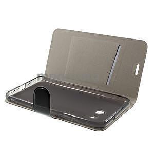 Horse PU kožené zapínacie puzdro na HTC U11 - čierne - 5
