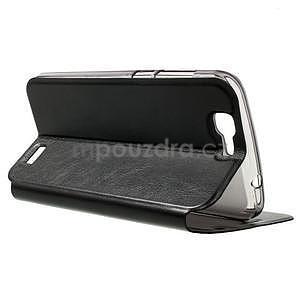 Klopové puzdro na Huawei Ascend G7 - čierne - 5