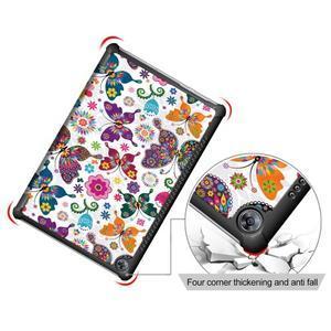 Emotive PU kožené puzdro na Huawei MediaPad M5 10 - motýliky - 5