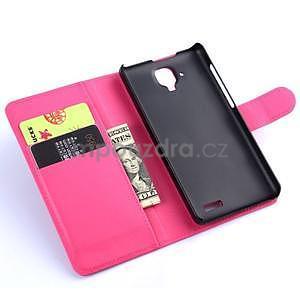 Elegantné kožené puzdro na mobil Lenovo A536 - rose - 5