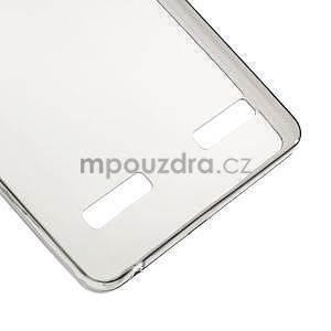 Gélový slim obal na Lenovo A6000 - šedé - 5