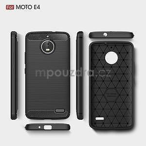 Carbon odolný obal pre Lenovo Moto E4 - tmavomodrý - 5
