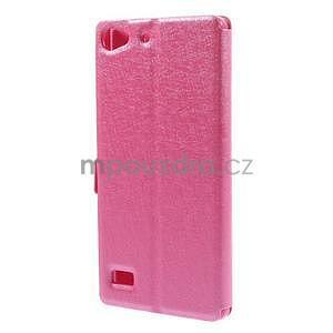 Kožený obal s okýnky na Lenovo Vibe X2 - rose - 5