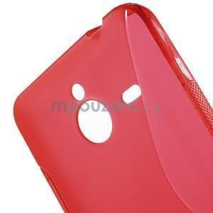 S-line gélový obal na Microsoft Lumia 640 XL - červený - 5