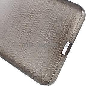 Gélový kryt s brúseným vzorom Microsoft Lumia 640 XL -  šedý - 5