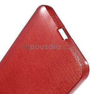 Gélový kryt s brúseným vzorom Microsoft Lumia 640 XL -  červený - 5
