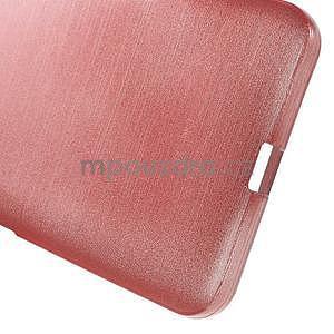 Gélový kryt s brúseným vzorom Microsoft Lumia 640 XL - ružový - 5
