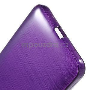 Gélový kryt s brúseným vzorom Microsoft Lumia 640 XL - fialový - 5