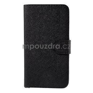 PU kožené puzdro na Microsoft Lumia 640 XL - čierne - 5