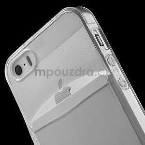 Ultra tenký obal s vreckom pre iPhone 5 a 5s - transparentný - 5