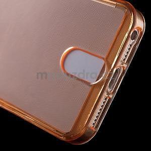 Ultra tenký obal s vreckom pre iPhone 5 a 5s - oranžový - 5