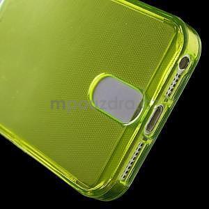 Ultra tenký obal s vreckom pre iPhone 5 a 5s - zelenožltý - 5