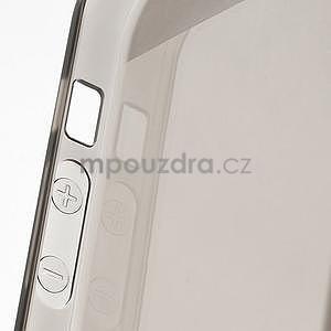 Gélový transparentný obal na iPhone 5 a 5s - šedý - 5
