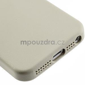 Gélový obal s textúrou na iPhone 5 a 5s - šedý - 5