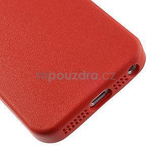 Gélový obal s textúrou na iPhone 5 a 5s - červený - 5