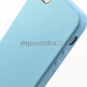 Gélový obal s textúrou na iPhone 5 a 5s - modrý - 5