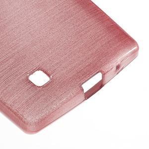 Brush gélový kryt na LG G4c H525N - ružový - 5