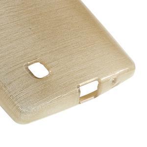 Brush gélový kryt pre LG G4c H525N - champagne - 5