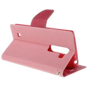 Diary PU kožené puzdro pre LG G4c- ružové - 5
