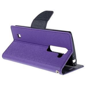 Diary PU kožené puzdro na LG G4c -fialové - 5