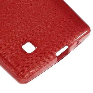 Brush gélový kryt na LG G4c H525N - červený - 5