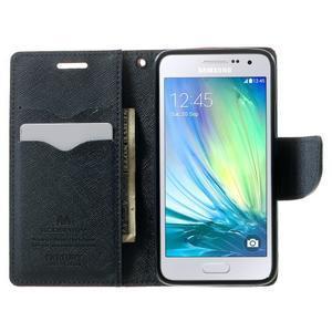 Diary PU kožené puzdro na Samsung Galaxy A3 - červené - 5