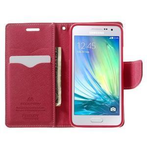 Diary PU kožené puzdro na Samsung Galaxy A3 - ružové - 5