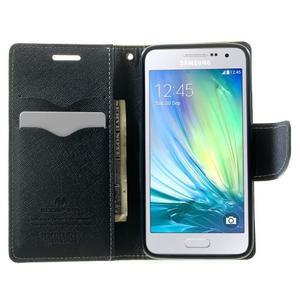Diary PU kožené puzdro na Samsung Galaxy A3 - zelené - 5