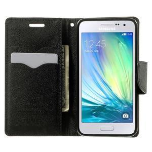 Diary PU kožené puzdro na Samsung Galaxy A3 -hnedé - 5