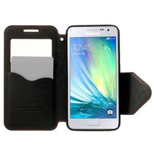 Roar peňaženkové puzdro s okienkom pre Samsung Galaxy A3    - červené - 5