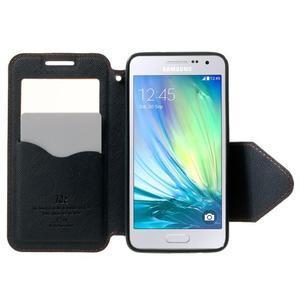 Roar peňaženkové puzdro s okienkom na Samsung Galaxy A3 - oranžové - 5