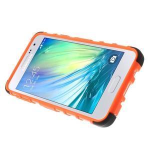 Outdoor odolný kryt pre mobil Samsung Galaxy A3    - oranžový - 5