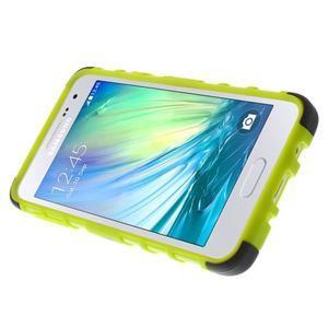 Outdoor odolný kryt na mobil Samsung Galaxy A3 - zelený - 5