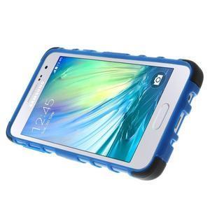 Outdoor odolný kryt pre mobil Samsung Galaxy A3    - modrý - 5