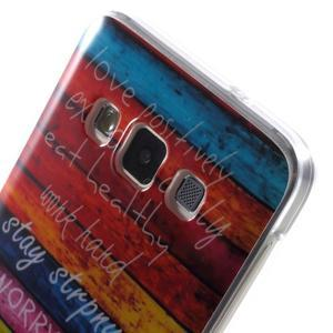 Gélový obal pre mobil Samsung Galaxy A3 - farby dreva - 5