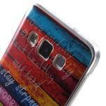 Gélový obal na mobil Samsung Galaxy A3 - farby dreva - 5/5