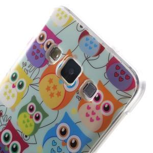Gélový obal na mobil Samsung Galaxy A3 - sovičky - 5