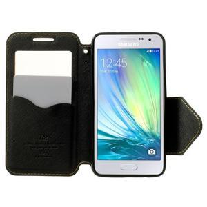 Roar peňaženkové puzdro s okienkom na Samsung Galaxy A3 - žlté - 5
