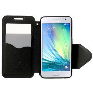 Roar peňaženkové puzdro s okienkom na Samsung Galaxy A3 - čierne - 5