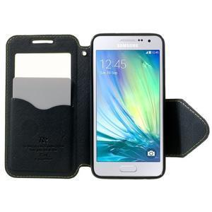 Roar peňaženkové puzdro s okienkom pre Samsung Galaxy A3 - zelené - 5