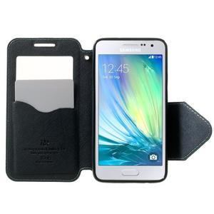 Roar peňaženkové puzdro s okienkom pre Samsung Galaxy A3 - svetlomodré - 5
