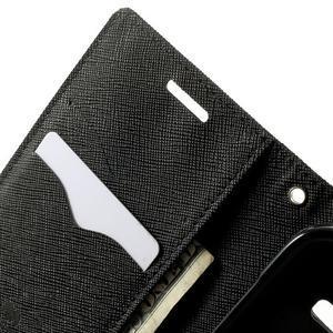 Fancy PU kožené pouzdro na Samsung Galaxy Core Prime - černé - 5
