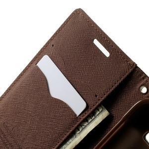 Fancy PU kožené puzdro pre Samsung Galaxy Core Prime - čierne/hnedé - 5