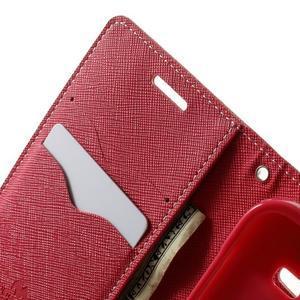 Fancy PU kožené puzdro pre Samsung Galaxy Core Prime - ružové - 5
