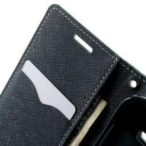 Fancy PU kožené puzdro pre Samsung Galaxy Core Prime - azúrové - 5