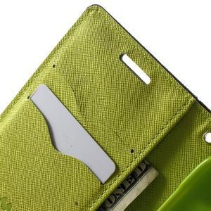 Fancy PU kožené puzdro pre Samsung Galaxy Core Prime - tmavomodré - 5