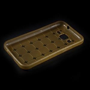 Square matný gélový obal pre Samsung Galaxy Core Prime - champagne - 5