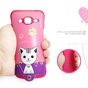 Mačička Domi obal pre mobil Samsung Galaxy Core Prime - rose - 5