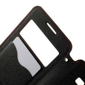 Safety puzdro s okienkom pre Samsung Galaxy Grand Prime - červené - 5